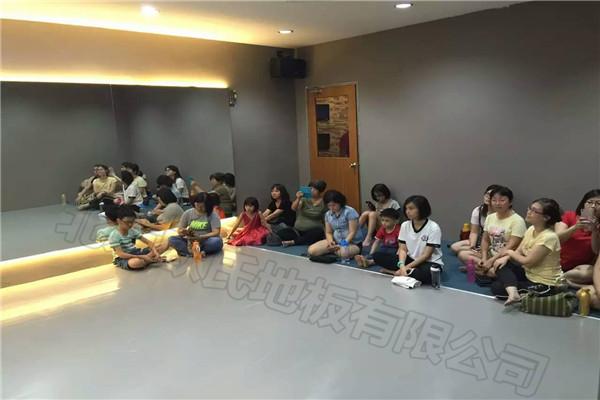 舞蹈地胶--延吉私人舞蹈培训中心铺设案例
